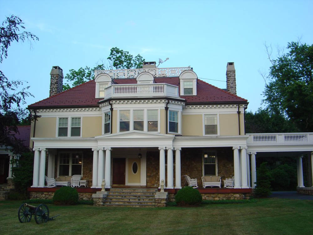 Main house at Hudson Farm Club, Andover, NJ
